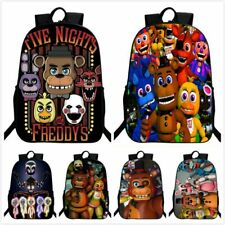 UK 3D Backpack Five Nights At Freddy Backpack Chica Foxy FNAF School Bag Cool