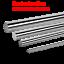 50 mm Smooth Rod axe optique divers Longueur Cylindre Rail linéaire de l/'arbre DIA 4 MM