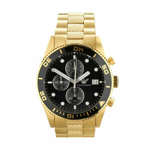 Emporio Armani AR5857 Stainlees Steel Gold Chronograph Men's Watch