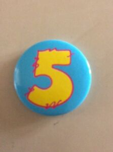 4cm AGE 5 BIRTHDAY BADGE IN BLUE WITH YELLOW FIVE - <span itemprop=availableAtOrFrom>Edinburgh, Midlothian, United Kingdom</span> - 4cm AGE 5 BIRTHDAY BADGE IN BLUE WITH YELLOW FIVE - Edinburgh, Midlothian, United Kingdom