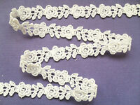 Lovely Ivory Rose Guipure/Venise Lace Trim 1.5 cm  Bridal Card Trim Craft