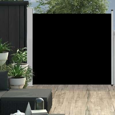 vidaXL Patio Retractable Side Awning 170x300cm Black ...