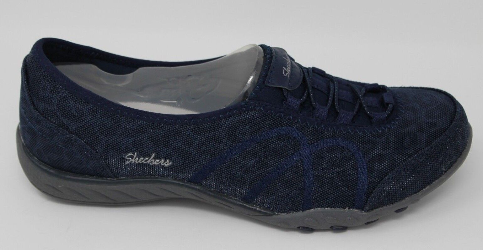 Skechers Donna Breathe-Easy-Bold Risk 23228 Navy Nuovo