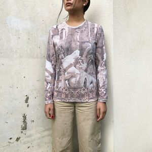 Vintage-Dolce-amp-Gabbana-D-amp-G-Top-Rare-All-Over-Print-AOP-Womens-Small