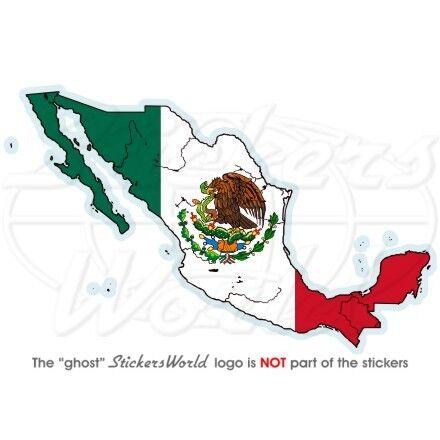 MEXIKO LandKarte-Flagge MEXIKANISCHE Fahne Vinyl Sticker Aufkleber 127mm