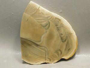 Raw Polish Flint Slice 100x57mm End Cut Lapidary Rough Polish Flint Slab
