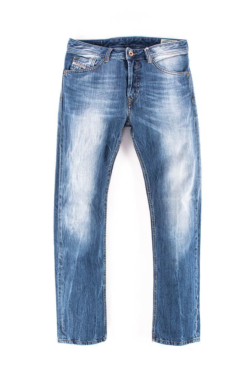 MEN'S DIESEL WAYKEE WASH 0RB04 Faded Regular Straight Fit Jeans Denim W27 L30