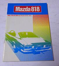 Betriebsanleitung Handbuch Mazda 818 Baujahre 1971 - 1978