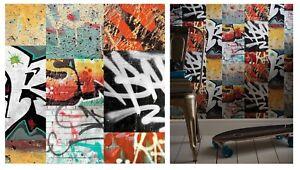 Arthouse Graffiti Rosso Funky Grassetto Banksy Nero Bianco Caratteristica Carta Da Parati 668301  </span>