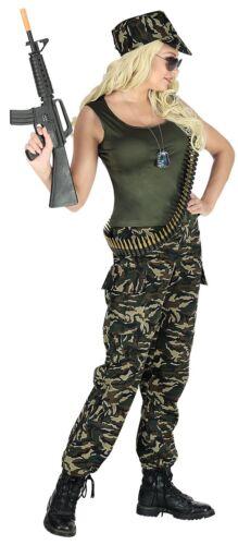 Soldat Soldatin Kostüm G.I Damen Herren Partnerkostüm Armee Army Kämpfer, K