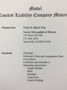Details About Business Operating Agreement For An Llc Generic For All 50 States Legal