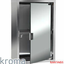 Kroma Stainless Steel Mirror Finished Bathroom Mirror Cabinet (26x12x 39.5cm)