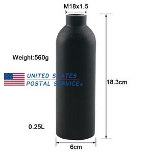 0.45L 4500psi Air Tank High Compressed Gas Cylinder Bottle Paintball PCP