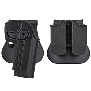 Tactical-Right-Hand-Pistol-Paddle-Holster-Double-Magazine-Pouch-For-M92-Model