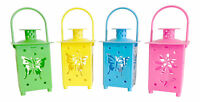 Set Of 4 Led Lanterns Table Top Hanging Battery Included Free Shipping