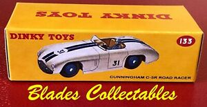 DINKY TOY 107 REPRO BOX SUNBEAM ALPINE SPORTS  BLUE by Blades Collectables