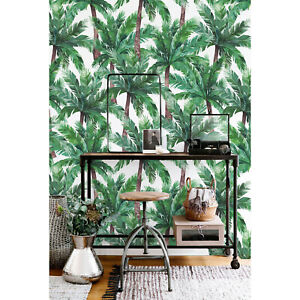 Removable-wallpaper-Palm-Tree-Self-adhesive-Floral-Peel-and-stick-Home-Decor