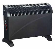 Black Glass Convector Electric Panel Heater Radiator Portable 2000W Daewoo Sleek