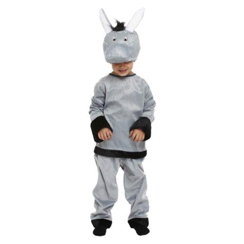 Childs Donkey Christmas Xmas Fancy Dress Up Outfit Nativity Pantomime Costume