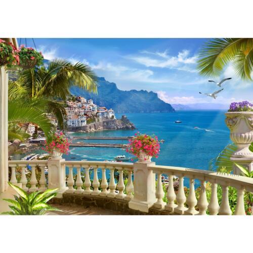 Fototapeten Tapete Fototapete Vlies Landschaft Italien Wandbilder XXL Wohnzimmer