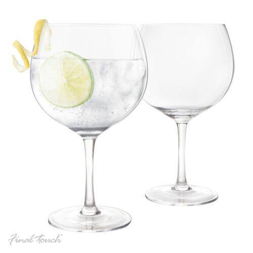 Trinkgläser Gin Tonic Gläser trinken Bar Limette Zitrone Genießer im 2er Set