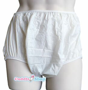 Cuddlz-Adult-Milky-White-Pull-Up-Plastic-Pants-PVC-Incontinence-Briefs