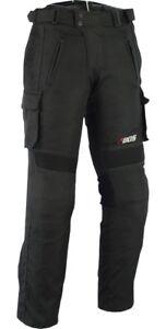Pantalon-moto-textile-noir-coupe-Jean-039-Denim-doublure-hiver