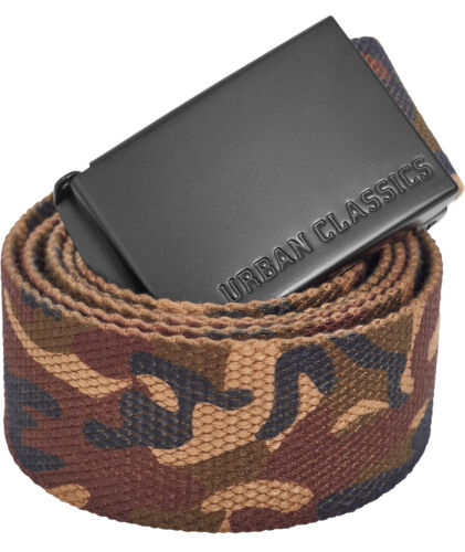 URBAN Classics Canvas Belt Cintura 2er Pack Set stoffa cintura con fibbia in metallo/""