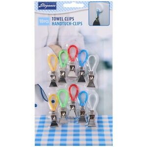 10PCS-Tea-Towel-Hanging-Clips-Clip-on-Hooks-Loops-Hand-Towel-Hangers