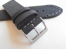 Cinturino pelle vintage ColaReb VENEZIA nero 20mm watch band strap Italy