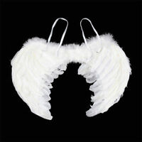 Fancy Dress Angel Fairy Feather Wings Halo Tutu Costume Outfit Hen Party BLACK