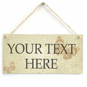 Personalised Your Text Here Sign Butterfly Custom Quotes And