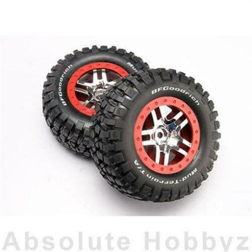 Traxxas 6873A Mounted BFGoodrich Mud Tire & SCT Spoke Wheel Chrome 2