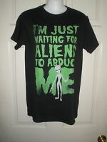 611 Mens Shirt S Black Aliens Abduct Me Roswell Nw Space Humor