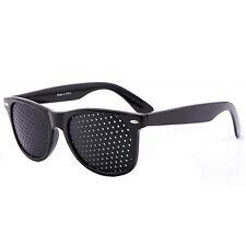 Vision Care Glasses Eyesight Improver Glasses Pinhole Glasses Black