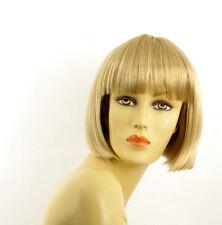 Perruque femme courte blond doré méché blond très clair  ELISA 24BT613