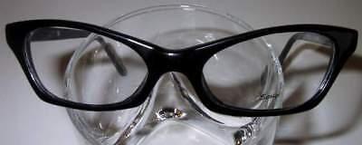 Vintage Style Eyeglasses Cool Cateye Black
