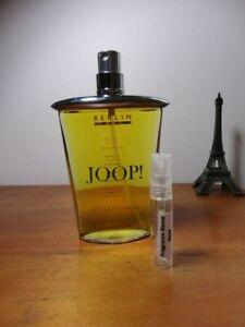 heiß-verkaufendes spätestes Geschicktes Design doppelter gutschein Details about Joop! Berlin - EDT Perfume - 5ml sample/travel atomiser glass  vial