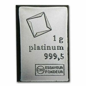 1 Gram Fine Platinum Bar 9995 Pure Fine Bullion Valcambi From Combibar Sheet