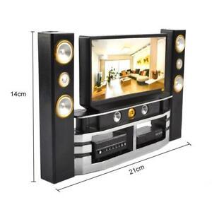 Furniture TV Theatre Decor Living Room Accessorie Set For Mini Barbie Dollhouse 6919493162536