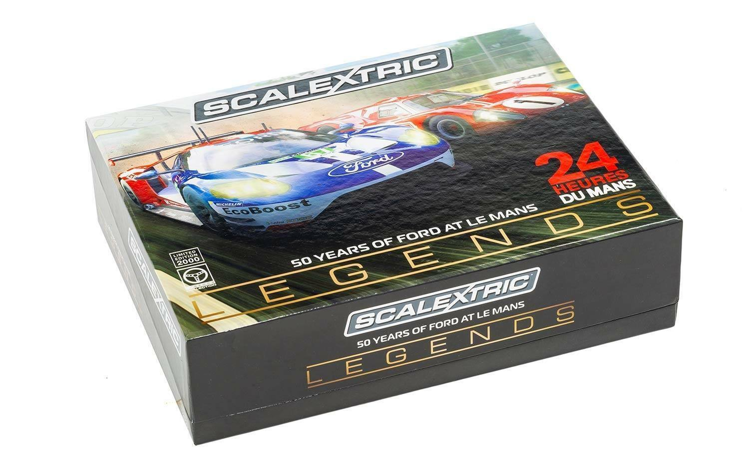 SCALEXTRIC C3893A Slot Car Legends 1967 Le Mans 50 Years of Ford, BRAND NEW