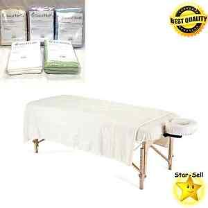 Massage Table Sheet Set 3 Piece Flannel Massage Sheets Face Rest ...