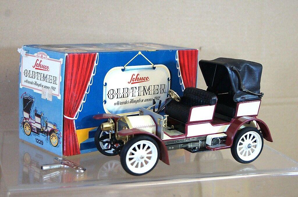 SCHUCO 1229 MERCEDES SIMPLEX TOURER 1902 CLOCKWORK OLDTIMER MINT BOXED nd