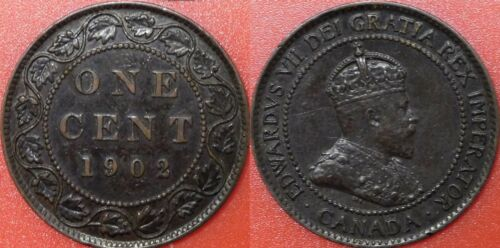 Very Fine 1902 Canada Large 1 Cent