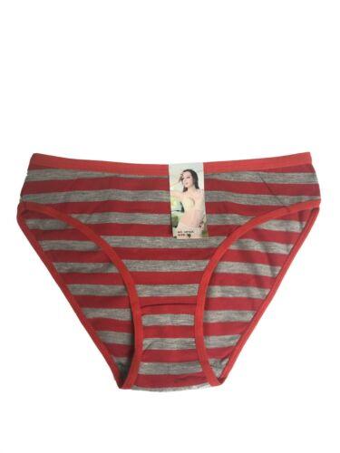 NOUVEAU LOT 6 Femmes Rayures Coton Sous-vêtements #C535