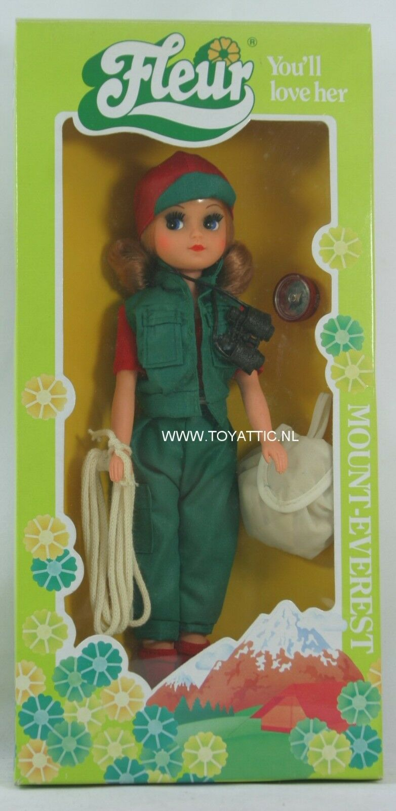 Fleur ( dutch Sindy ) doll Mount everest with blond hair in climbing outfit NRFB