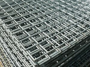 """Holes Galvanised 1.8x0.9m 1/"""" 2 Pack of Welded Wire Mesh Panels 6ftx3ft 25mm"""