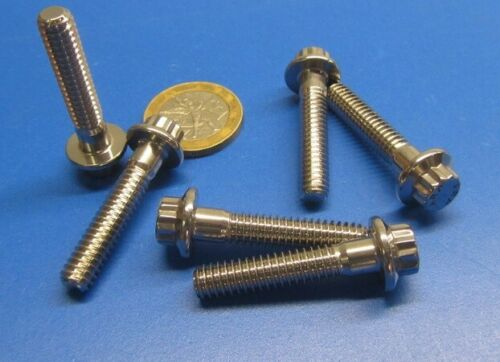 """PT 12 Point Flanged Ferry ARP Bolt Stainless Steel 1//4/""""-20 x 1 1//4/"""" L 6 Pc"""