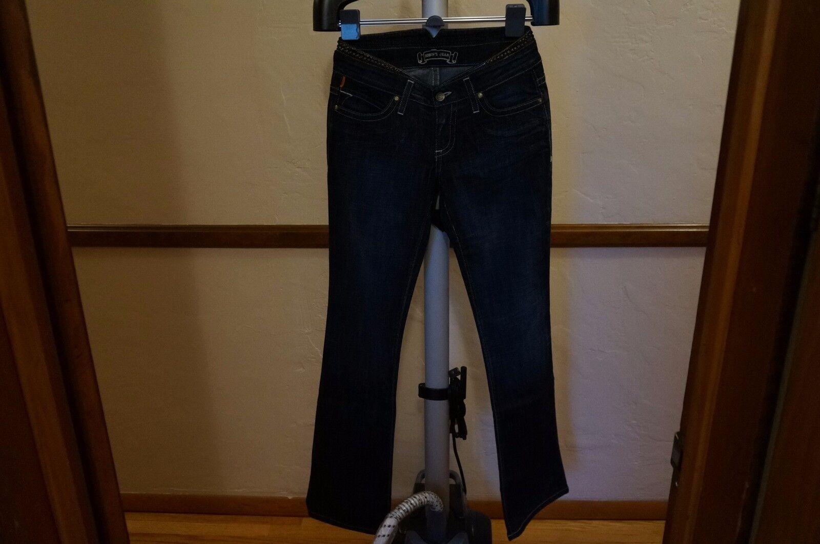 100% Authentic New Women ROBIN'S JEAN SPAC8711 1970 sz 28 bluee Denim Bootcut Leg
