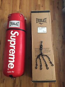 Image Is Loading Supreme X Everlasting Leather Heavy Bag 70lbs With